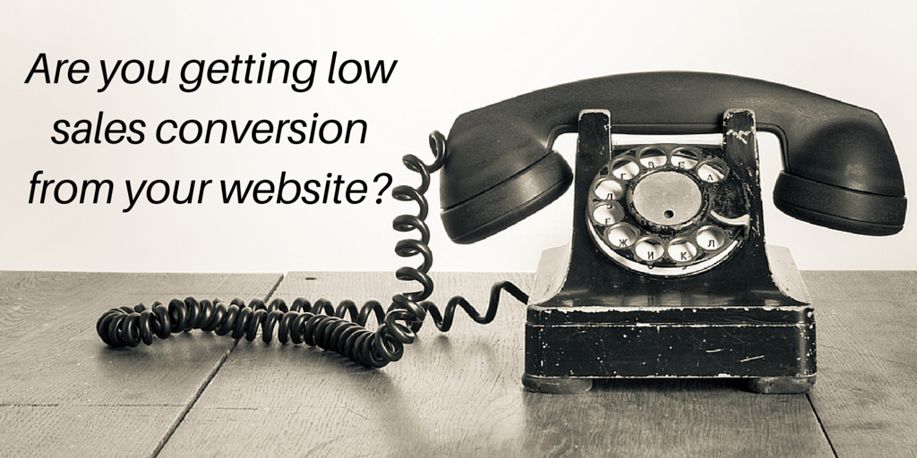 Are you getting low sales conversion from your website?